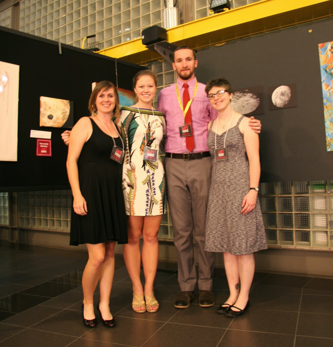 The Art of Planetary Science's 2014 lead team (left to right): Jamie Molaro, Sarah Peacock, James Keane, Hannah Tanquary