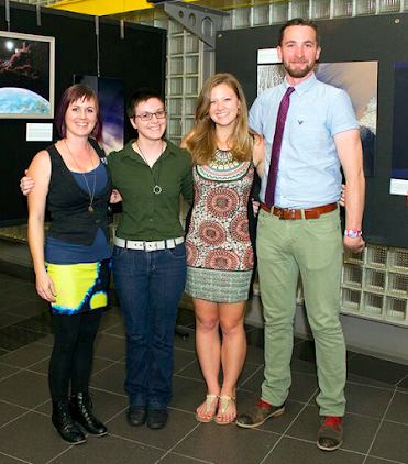 The Art of Planetary Science's 2015 lead team (left to right): Jamie Molaro, Hannah Tanquary, Sarah Peacock, James Keane