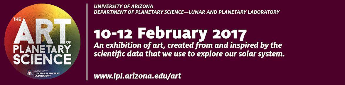 The Art of Planetary Science: 10-12 February, 2017. An exhibition of art, created from and inspired by the scientific data that we use to explore our solar system.