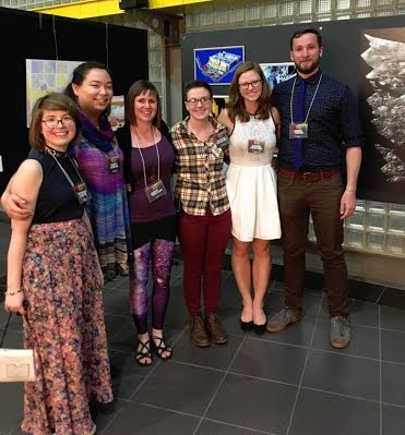 The Art of Planetary Science's 2017 lead team (left to right): Theresa Hentz, Tracy Esman, Jamie Molaro, Hannah Tanquary, Sarah Peacock, and James Keane