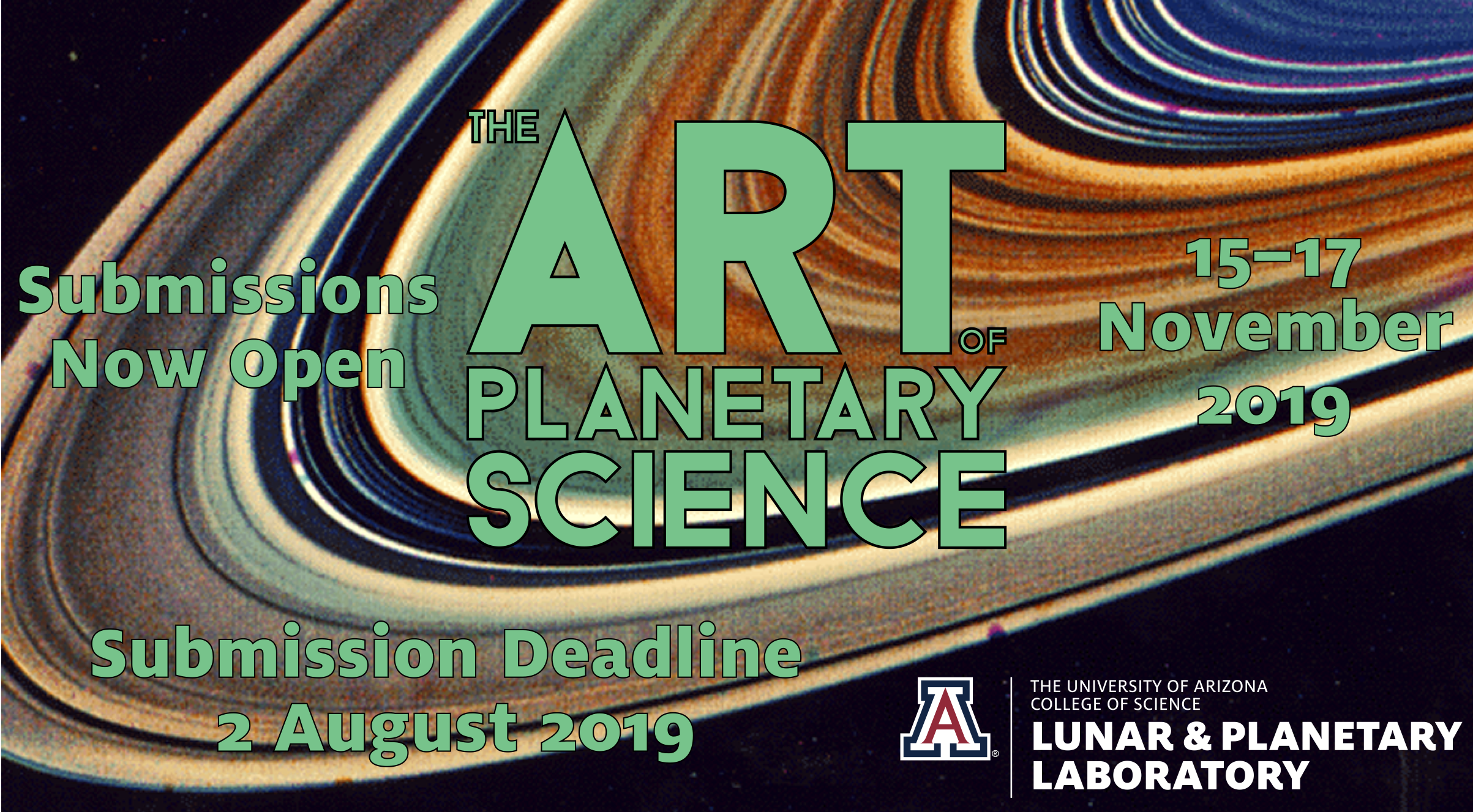 The Art of Planetary Science: 15-17 November, 2019. Submissions now open.