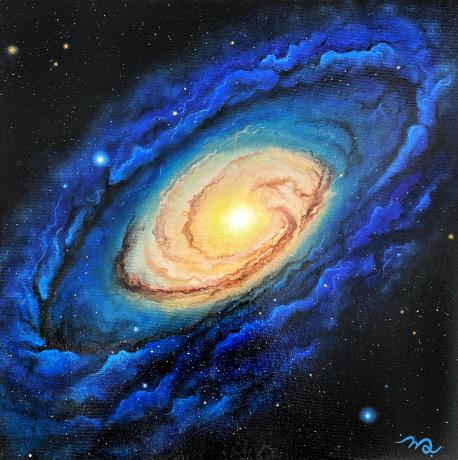 Thoughts always shift, evolve and grow, just like the universe. Galaxies are a reflection of our mind. So mysterious yet so comp