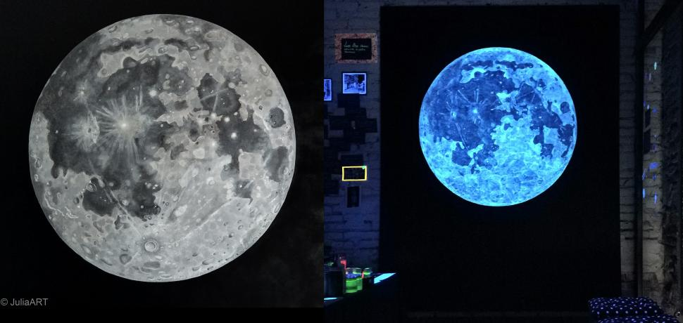 """UV Moon """"The cosmos became art"""""""