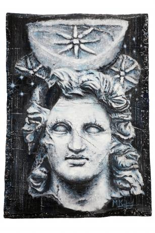 The bust of Alexander the Great crowned with Sirius.