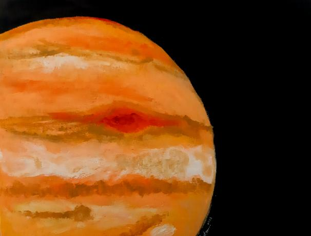 The Giant is a data art piece based from image data collected by JunoCam instrument and processed by Brian Swift.