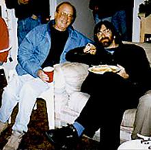 Mike Drake and Bill McKinnon slummin' at Hawthorne House.