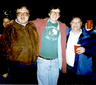 Gordy Bjoraker, Nick Schneider, and Bill Merline, the original founders of Bratfest!
