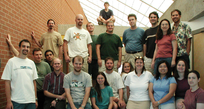 The LPL graduate students, May 2004.