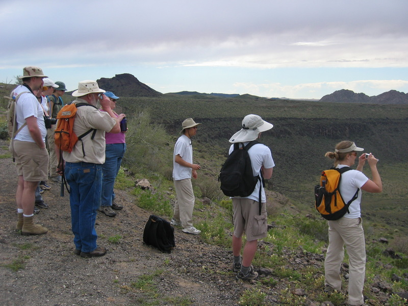 Pinacates Volcanic Field, Sonora, Mexico - Spring 2005, photo by Doug Archer
