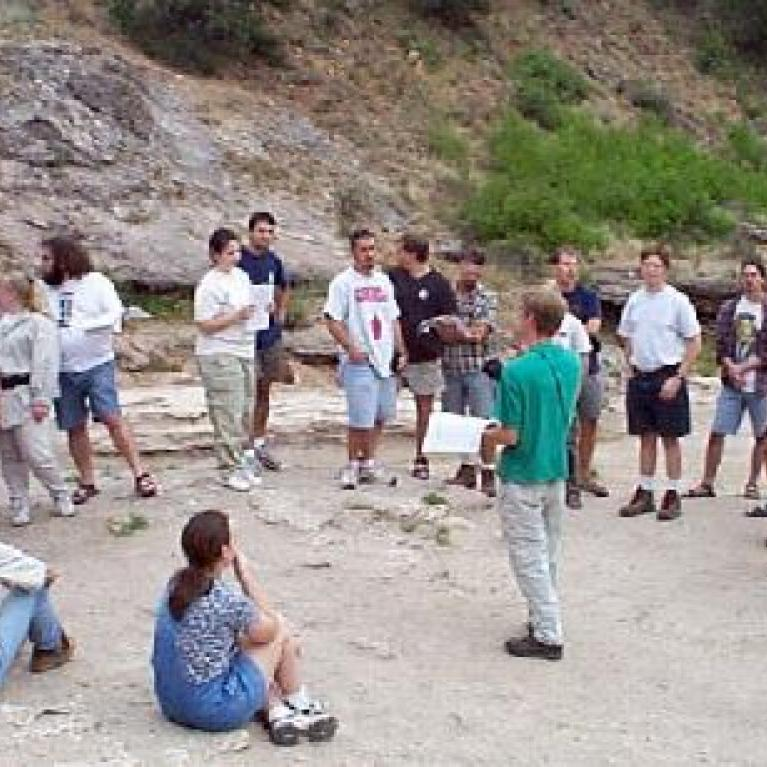There, Paul talked about Travertine deposits and Rachel talked about life in hydrothermal environments.