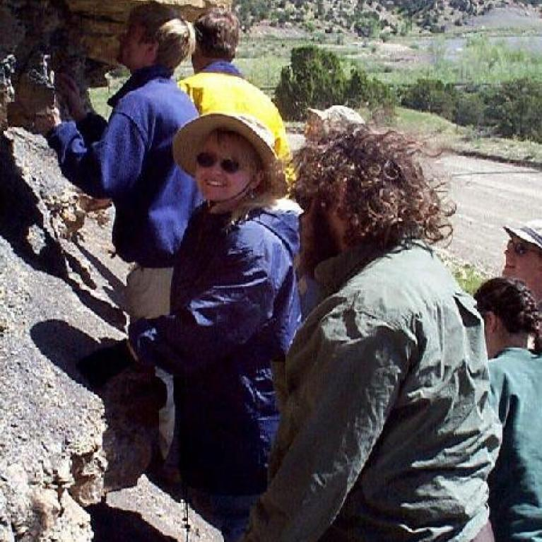 Then we stopped at our first K/T outcrop of the day.
