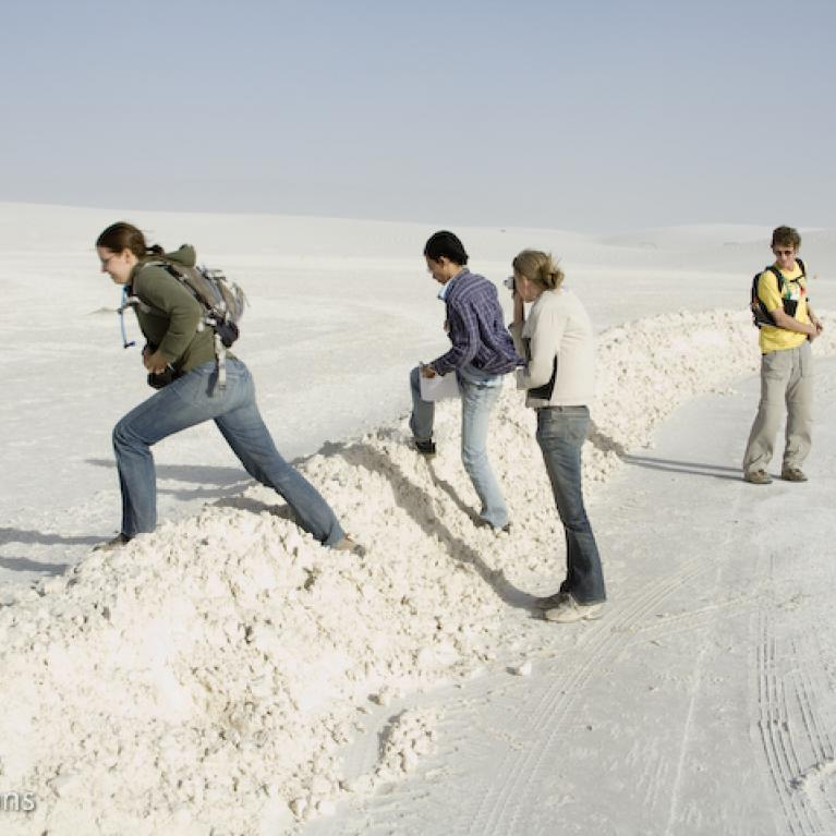 We talked about the source of the gypsum sand, as well as the aeolian processes happening right before our eyes.