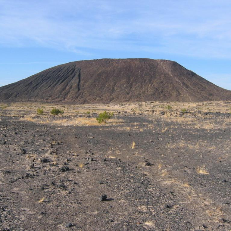 Day 5. On the way home, we stopped at Amboy Crater, an extinct cinder cone in the Mojave Desert.