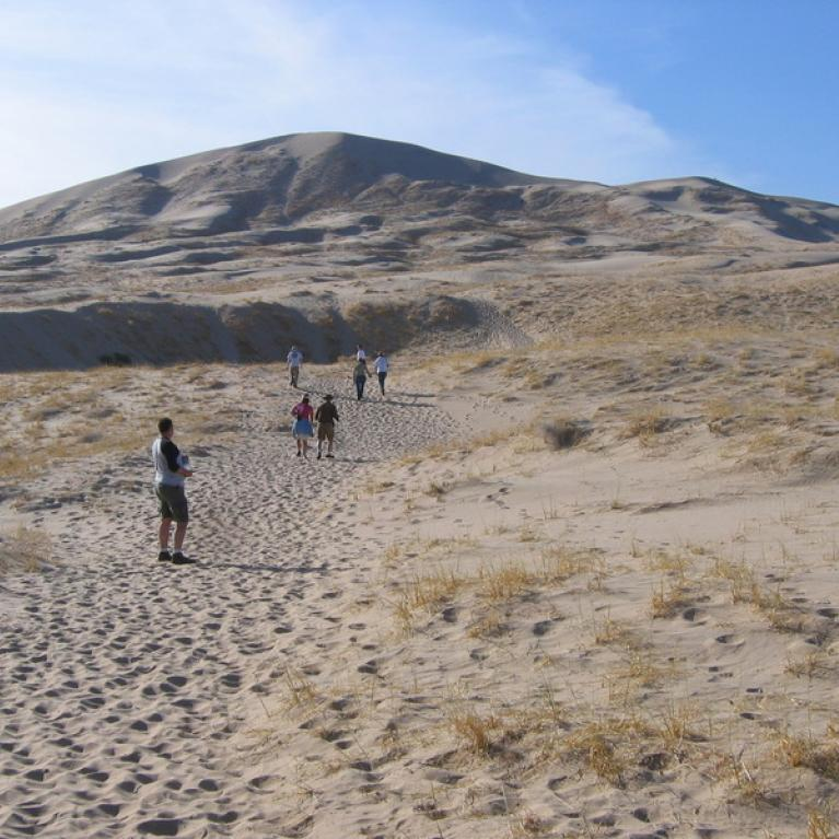 Exploring the Amboy Dune fields south of the park