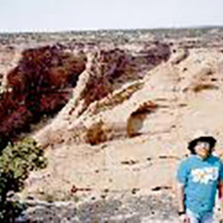 Andy against the backdrop  of Canyon de Chelly.