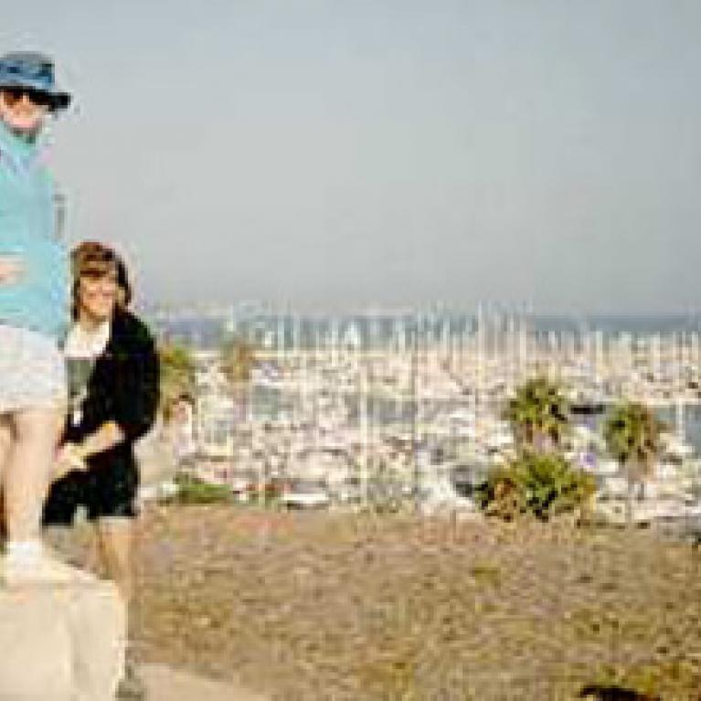 Overlooking historically troubled Santa Barbara Harbor.