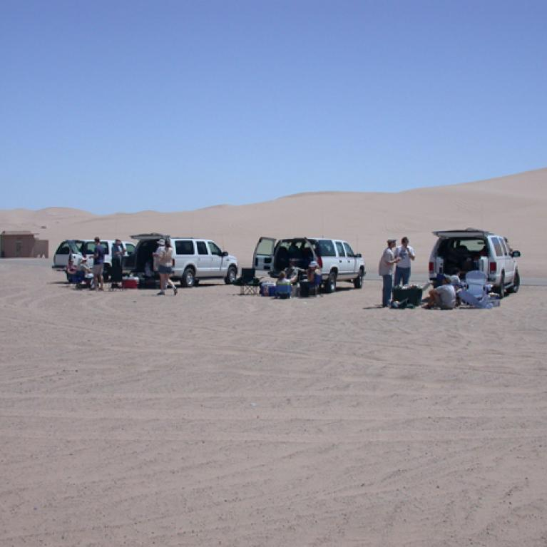 Day 1. Mostly a driving day. We had lunch in the Algodunes dune field.