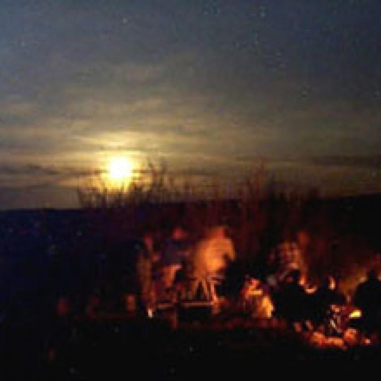 And so near the end of the trip, what more can you ask for than a campfire with your friends and that your sheep is securely lashed to the roof of your vehicle. I can only hope that you can ask for a great deal more.