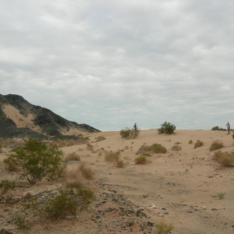 Day 1. Climbing dunes near San Felipe