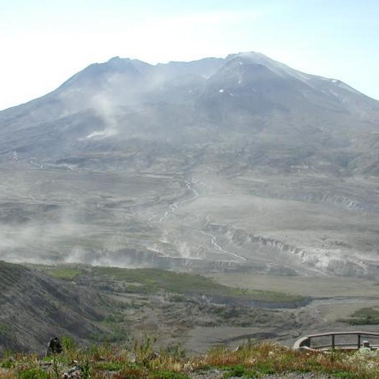 Our next stop was at the Johnston Ridge Observatory, which has a great overview of the remains of Mt. St. Helens.