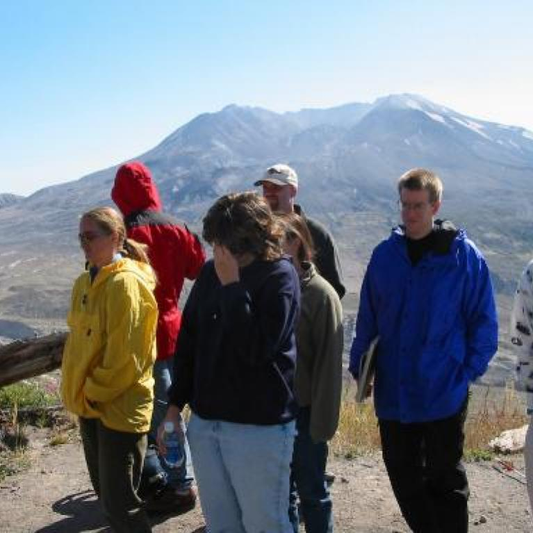Overview of the remains of Mt. St. Helens.