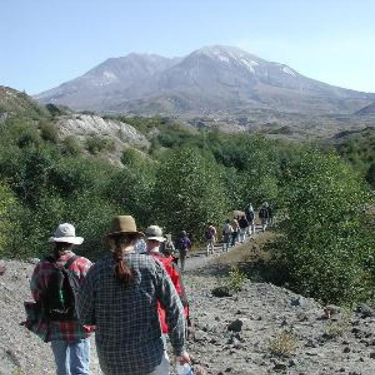 More talks and yet another view of Mt. St. Helens.