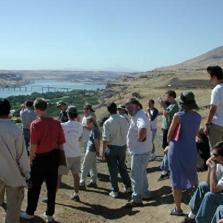 The Maryhill stop included a good overlook of the Columbia river.