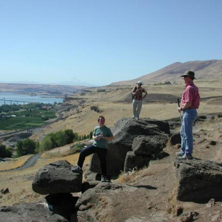 Special guest Jim O'Connor gave an overview of the Missoula Flood that formed the Channelled Scablands.