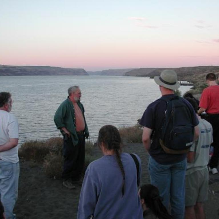 Finally we stopped at the Sand Station Recreation Center for a view of the Wallula Gap, sunset, and a few talks. We stayed the night in Kennewick.