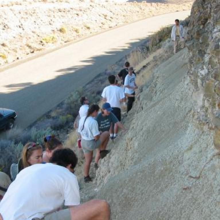 Looking at lava and lake sediments.