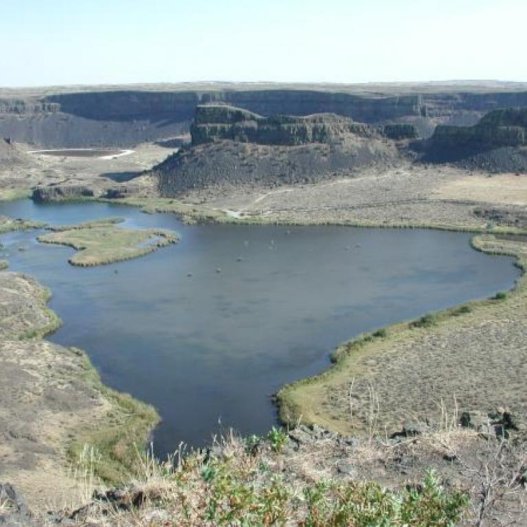 Dry Falls was an excellent example of a flood-carved coulee.