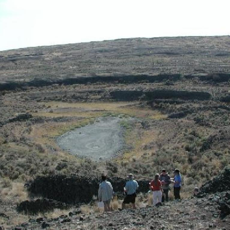 Moving along to Amphitheater Crater, Devon and Windy discussed the ring dykes there.