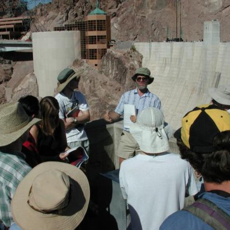Erich told us about the history of Hoover Dam.