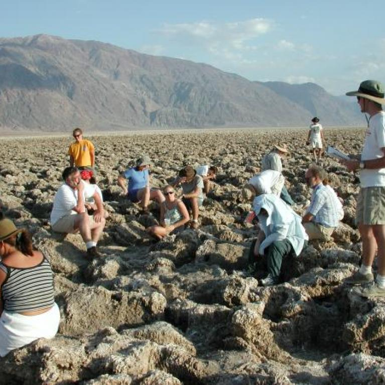 This uncomfortable and surreal terrain was the last place in Death Valley to dry up and is now filled with evaporite deposits.