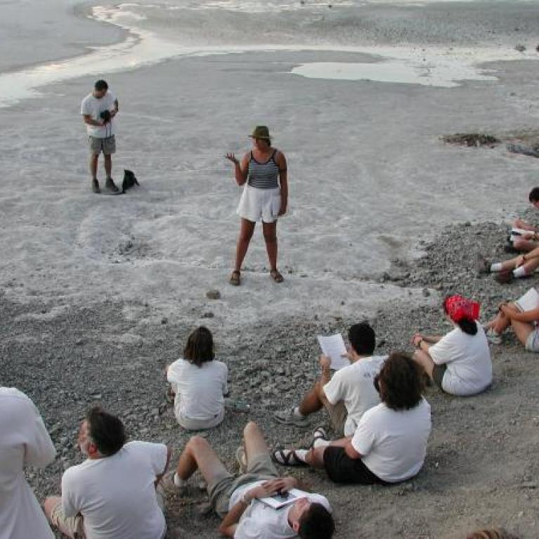 Back to Badwater, where Rachel discussed Salt Weathering and Ross stranded us for three hours.