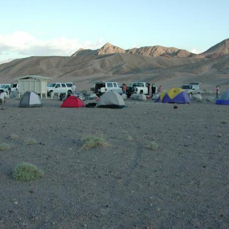 Day 4. Unsurprisingly, we did not reach our planned campsite after our lengthy sojourn in Death Valley and camped in the windiest, sandiest patch of the Mojave desert.