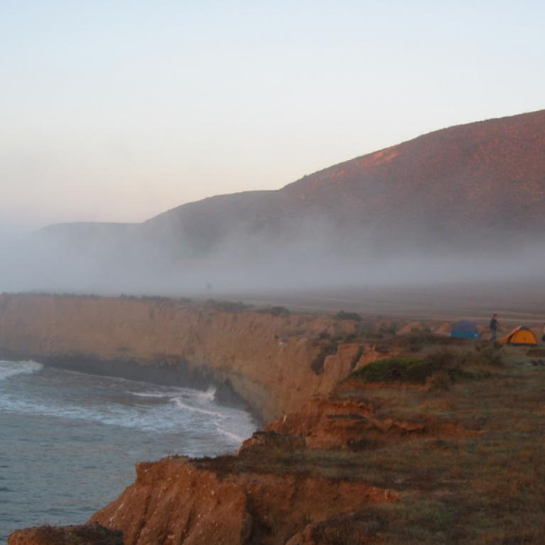 Day 5. A nice layer of fog greeted us when we awoke, but quickly burned off.