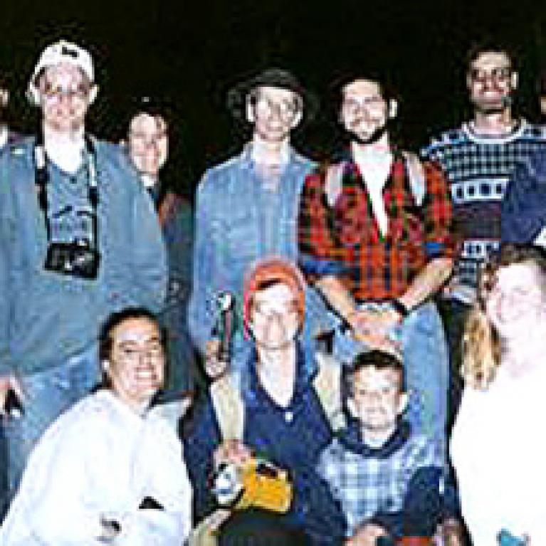The group inside Slaughter Canyon Cave.