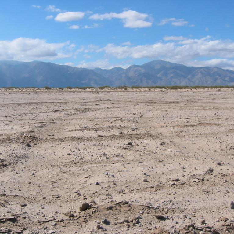 Laguno Diablo, a playa that we explored for evaporite deposits