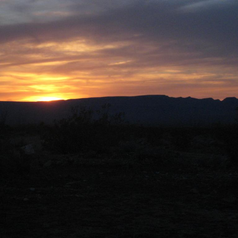 Sunset on Night 1.