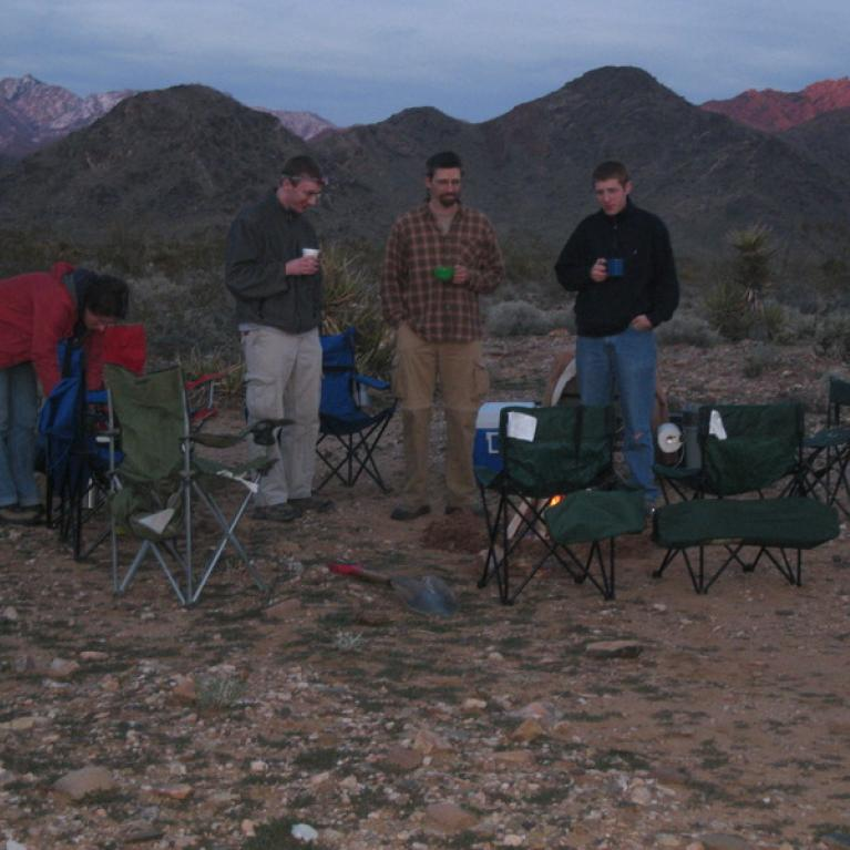Camping on Night 1.