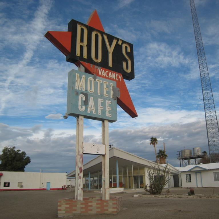 Just about the only thing in Amboy, California.