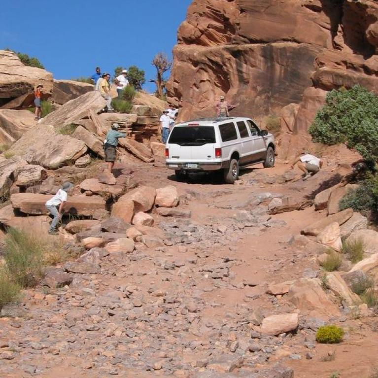 SOB Hill. Unfortunately, our attempt to scale it ultimately failed with one of our vehicles. This prevented us from seeing the confluence of the Green and Colorado Rivers.