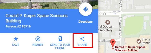 Embed a Google Map | Lunar and Planetary Laboratory ... on map google map, twitter google map, address google map, small google map, share google map, export google map, insert google map, copy google map,