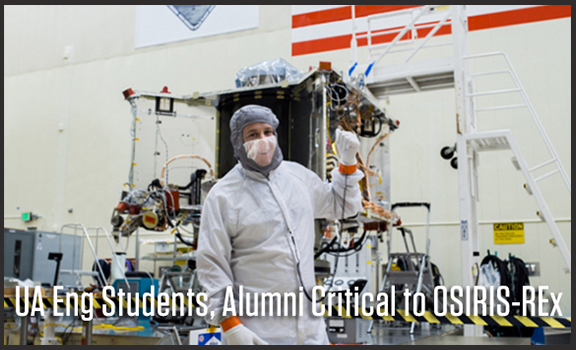 UA Engineering Students, Alumni Critical to OSIRIS-REx Mission