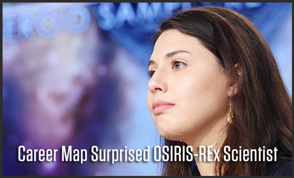 Career Map Surprised OSIRIS-REx Scientist