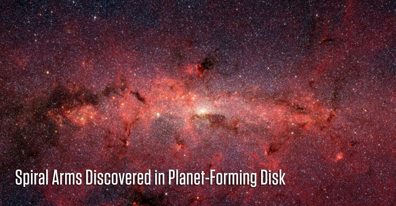 Spiral Arms Discovered in Planet-Forming Disk