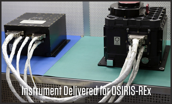 International Instrument Delivered for OSIRIS-REx
