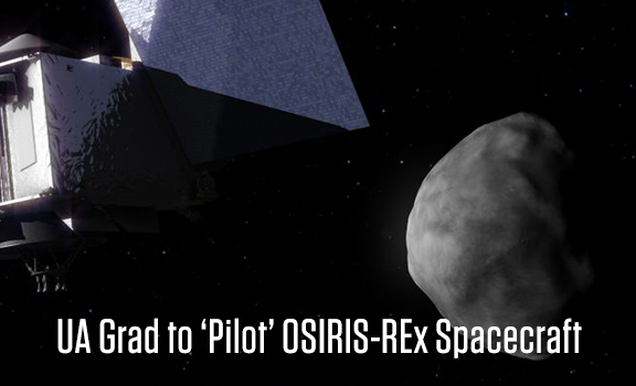 New UA Grad to 'Pilot' OSIRIS-REx Spacecraft