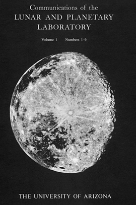 Communications of the Lunar and Planetary Laboratory journal cover